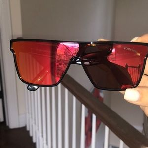 Tom Ford Wyhat Shield Sunglasses Red/Orange